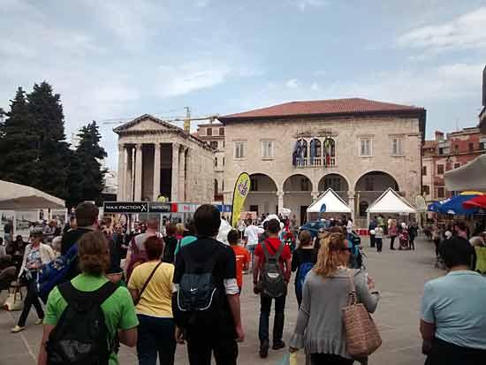 Altstadt Pulas in Kroatien